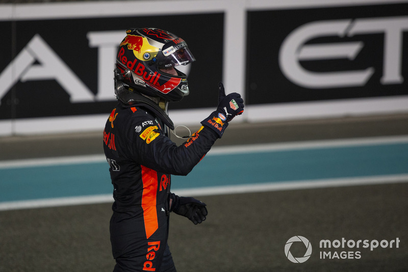 Max Verstappen, Red Bull Racing celebr en Parc Ferme