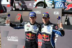 Podium: winners Andreas Mikkelsen, Anders Jäger, Volkswagen Motorsport