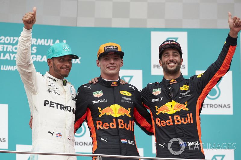 Malezya GP - Kazanan Max Verstappen, 2. Lewis Hamilton, 3. Daniel Ricciardo