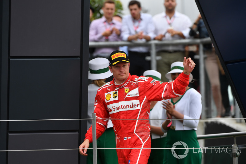 Kimi Raikkonen, Ferrari on the podium