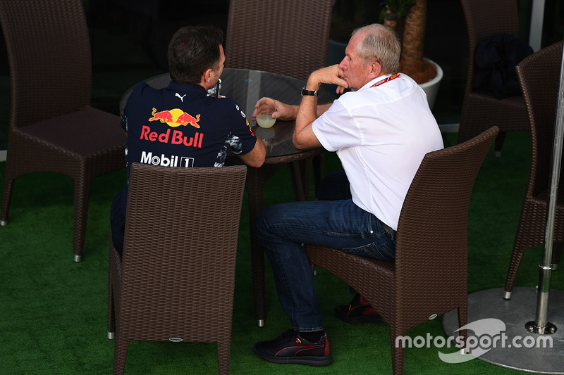 Christian Horner, Red Bull Racing Team Principal and Dr Helmut Marko, Red Bull Motorsport Consultant