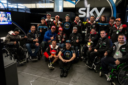 Riders of the Handy race at the SKY VR46 garage