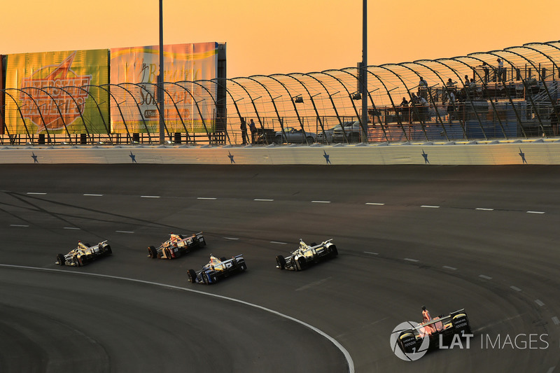 Mikhail Aleshin, Schmidt Peterson Motorsports Honda, Scott Dixon, Chip Ganassi Racing Honda