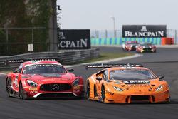 #27 Orange 1 Team Lazarus Lamborghini Huracan GT3: Nicolas Pohler, Fabrizio Crestani, #88 AKKA ASP Mercedes AMG GT3: Felix Serralles, Daniel Juncadella
