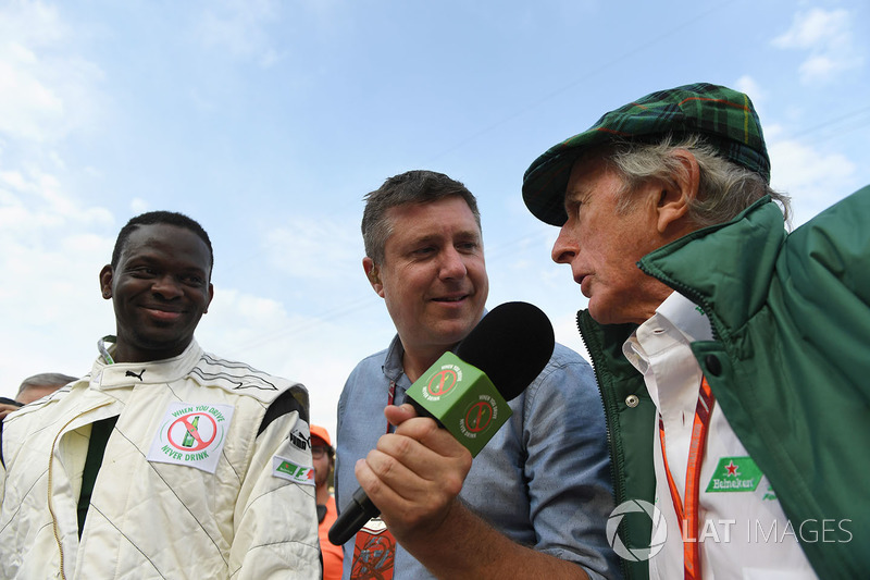 Dida, David Croft, Sky TV Commentator and Sir Jackie Stewart