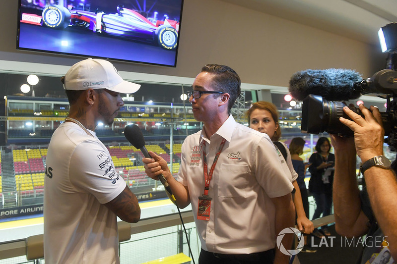 Lewis Hamilton, Mercedes AMG F1 is interviewed