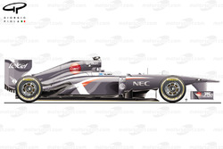 Sauber C32 side view, Brazilian GP