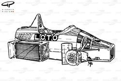 Ligier JS27 1986 chassis detail