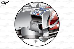 McLaren MP4-27 sidepod vortex generators (additional one added, arrowed)
