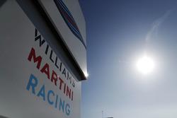 The Williams team's motorhome