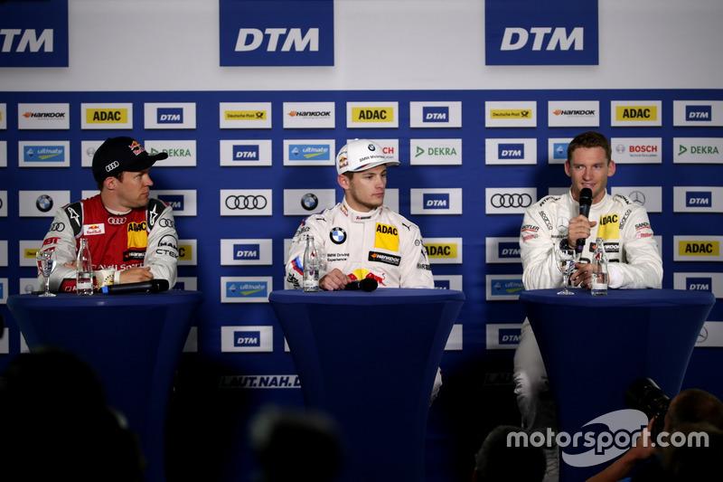 Mattias Ekström, Audi Sport Team Abt Sportsline, Audi A5 DTM; Marco Wittmann, BMW Team RMG, BMW M4 DTM; Maro Engel, Mercedes-AMG Team HWA, Mercedes-AMG C63 DTM