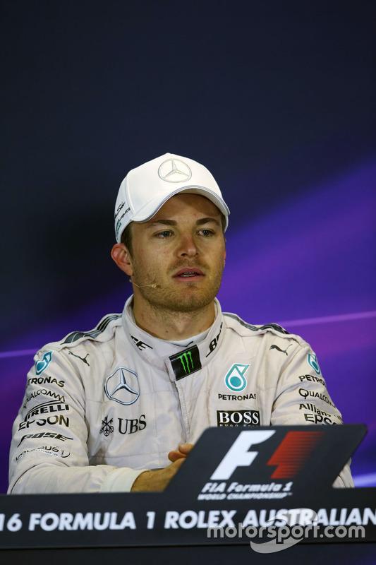 Winnaar Nico Rosberg, Mercedes AMG F1 in de persconferentie