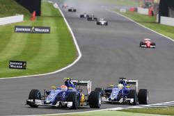 Felipe Nasr, Sauber C35 y Marcus Ericsson Sauber C35