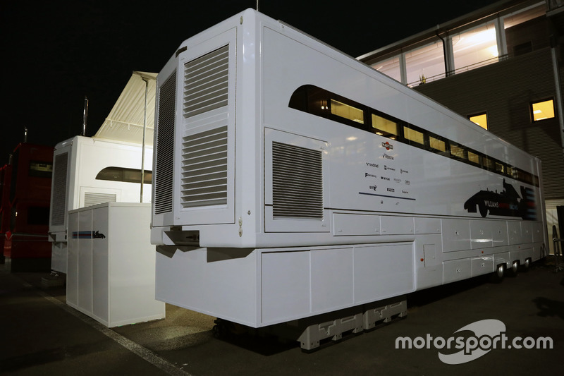 Williams truck at night