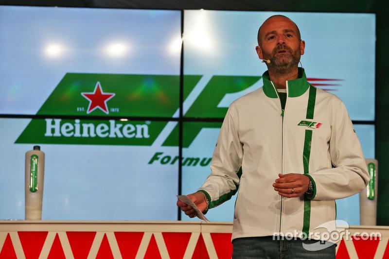 Gianluca di Tondo, Heineken Global Head of Brand anounces an F1 sponsorship deal