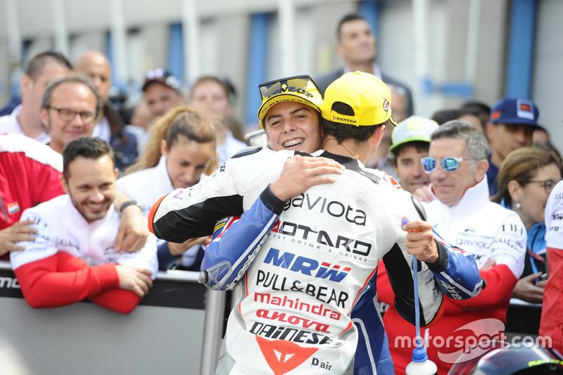 Yarış galibi Francesco Bagnaia, Aspar Team Mahindra