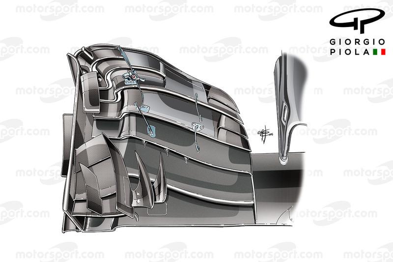 McLaren MP4/31: Frontflügel in Ungarn