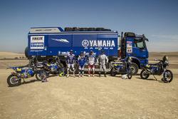 Гонщики Yamaha Official Rally Team Адриен ван Беверен, Ксавье де Сультрэ, Франко Кайми и Родни Фагготтер