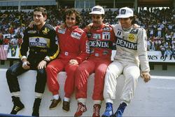 1986 Dünya Şampiyonası iddialıları, Ayrton Senna, Lotus, Alain Prost, McLaren, Nigel Mansell, Williams, Nelson PIquet, Williams
