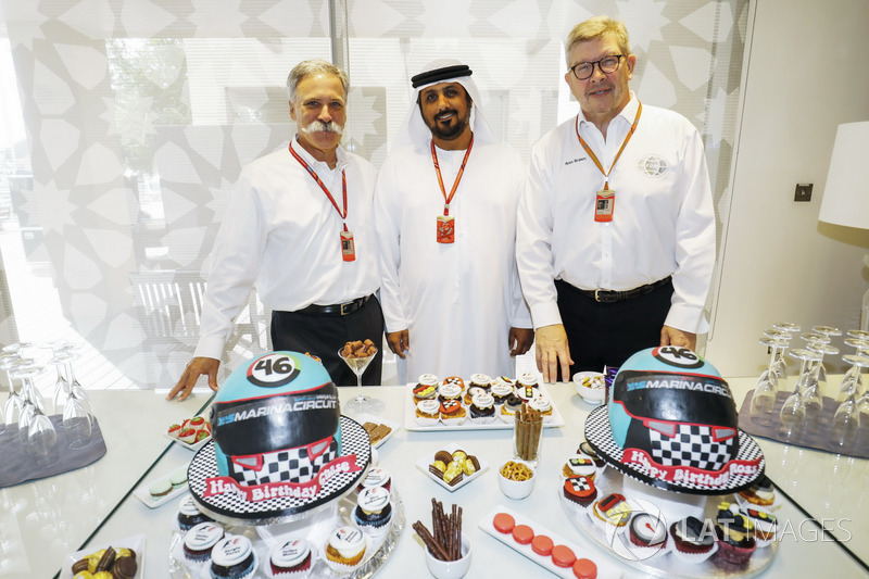 Chase Carey, jefe de la F1, Ross Brawn, director deportivo de la FOM