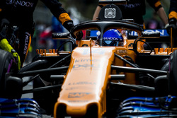 Fernando Alonso, McLaren MCL33 Renault, on the grid
