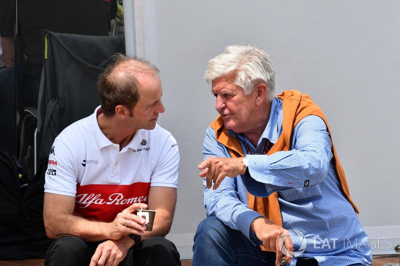 Josef Leberer, preparatore Sauber e Roger Benoit, giornalista