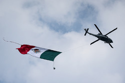 Helicopter and Mexican flag