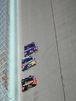 Мартин Труэкс-мл., Furniture Row Racing Toyota, Кайл Буш, Joe Gibbs Racing Toyota и Денни Хэмлин, Joe Gibbs Racing Toyota