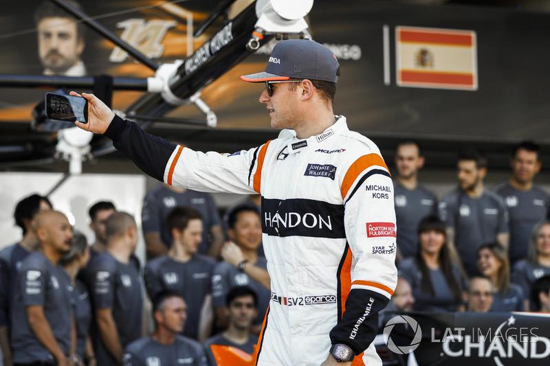 Stoffel Vandoorne, en la foto del equipo McLaren