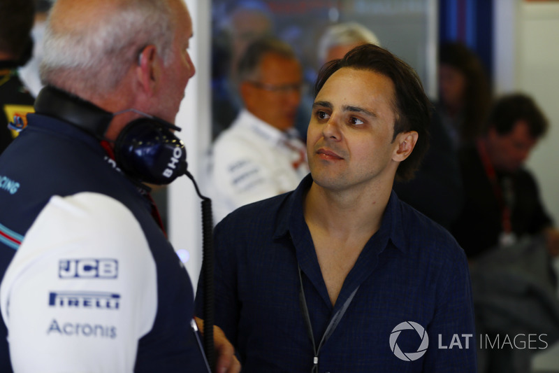 Felipe Massa, ex piloto de Williams Martini Racing visita a su antiguo equipo