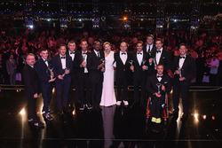 The Laureus Award winners with Prince Albert II of Monaco and his wife Charlene,Princess of Monaco, Toto Wolff, Executive Director Mercedes AMG F1