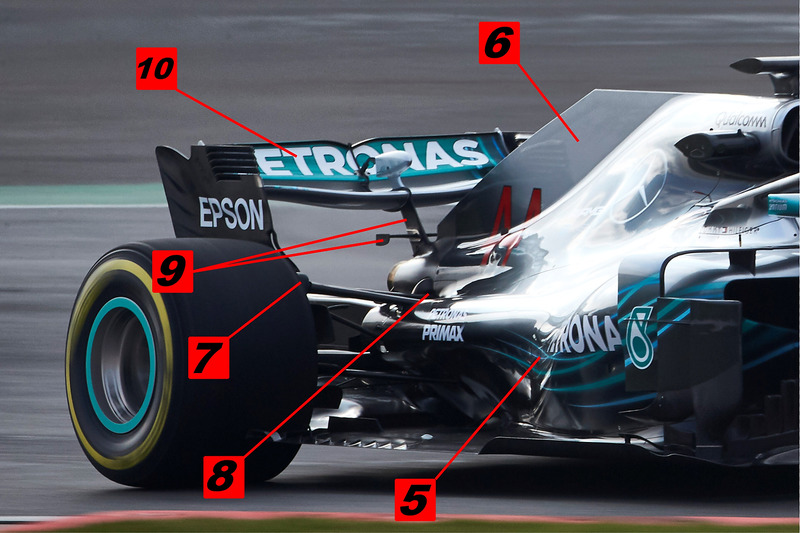 Mercedes AMG F1 W09 rear end detail