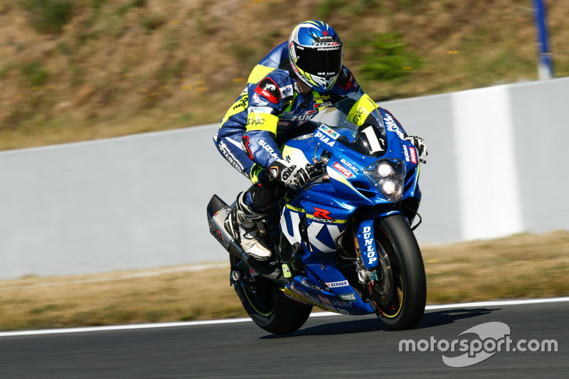 #1 Suzuki Endurance Racing Team, Suzuki GSX R 1000: Vincent Philippe, Anthony Delhalle, Etienne Masson, ledas