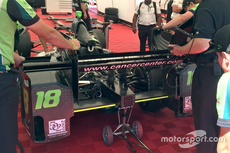 Conor Daly, Dale Coyne Racing Honda, kazalı otomobil