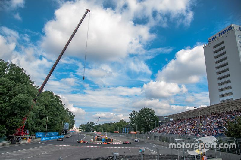 Start, safety car, Lance Stroll, Prema Powerteam Dallara F312 - Mercedes-Benz