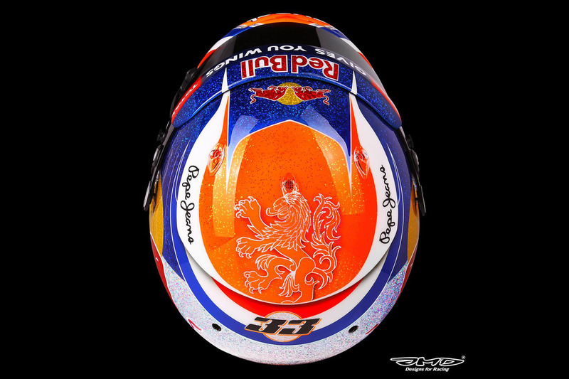 Helmet of Max Verstappen, Red Bull Racing