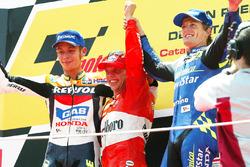 Podium : Loris Capirossi, Valentino Rossi et Sete Gibernau