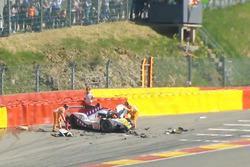 Pietro Fittipaldi, Dragonspeed BR Engineering BR1 sufre un gran accidente