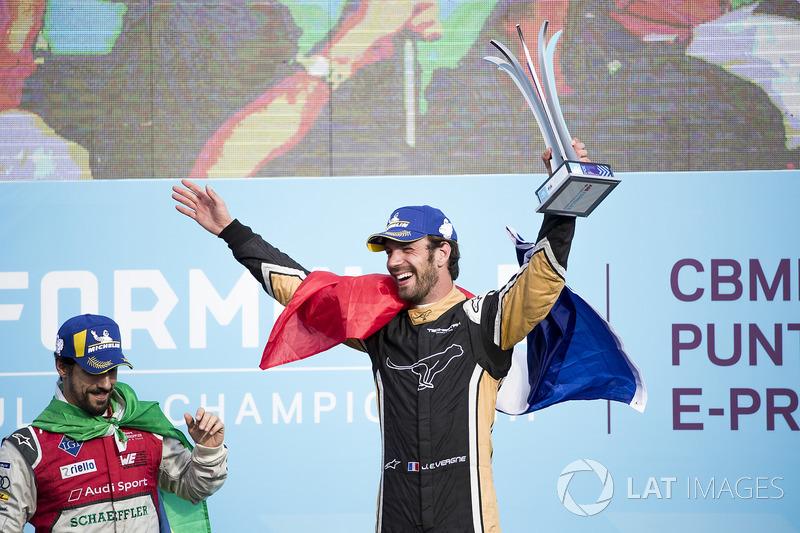Jean-Eric Vergne, Techeetah, festeggia sul podio