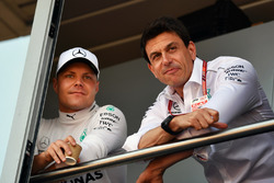 Valtteri Bottas, Mercedes-AMG F1 and Toto Wolff, Mercedes AMG F1 Director of Motorsport