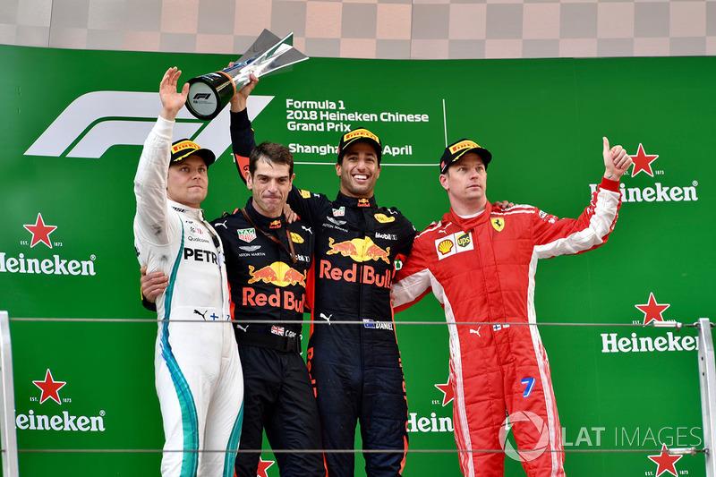 GP de China: 1º Ricciardo, 2º Bottas, 3º Raikkonen