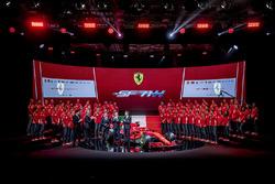 Sebastian Vettel, Ferrari, Kimi Raikkonen, Ferrari, Maurizio Arrivabene director Ferrari