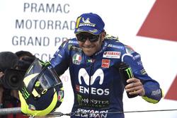 Podio: segundo, Valentino Rossi, Yamaha Factory Racing