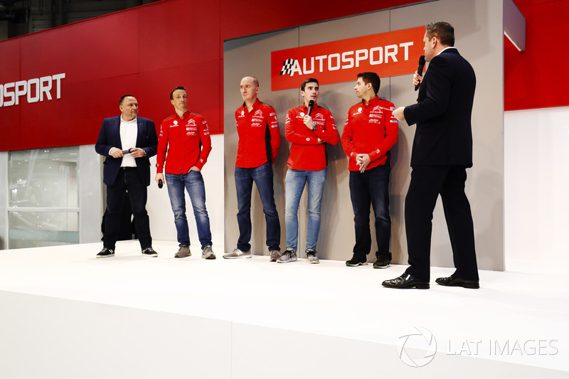 The Citroen WRC team meet Henry Hope-Frost on the Autosport Stage