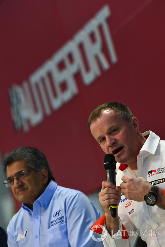 Michel Nandan and Tommi Makinen talk to Henry Hope-Frost on the Autosport Stage