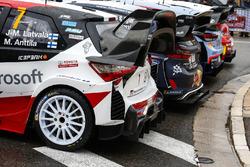 Foto de grupo de los coches WRC 2018