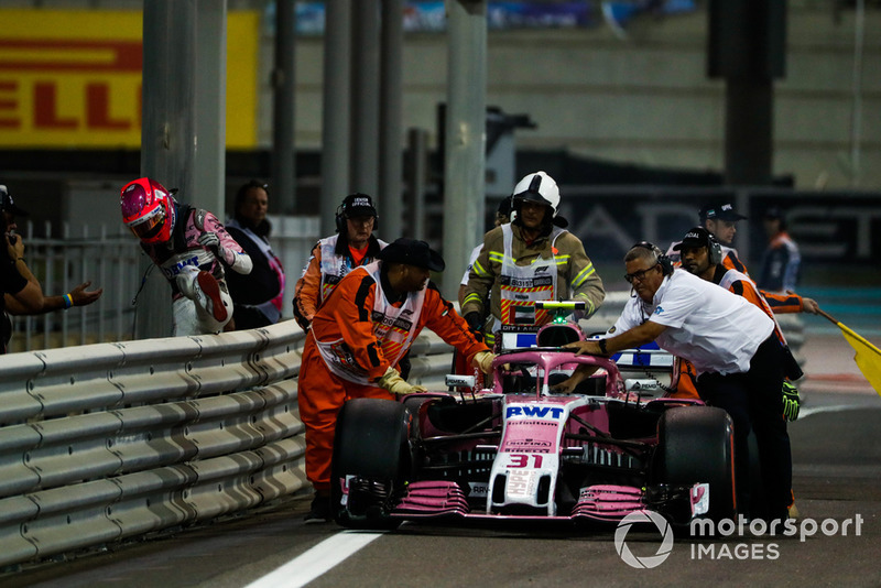 DNF: Esteban Ocon, Racing Point Force India VJM11