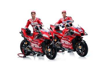 Andrea Dovizioso en Danilo Petrucci, Ducati Team