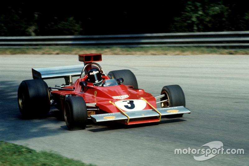 Jacky Ickx, Ferrari 312B3 rivista e corretta da Forghieri: ala a sbalzo, airscope e radiatori laterali