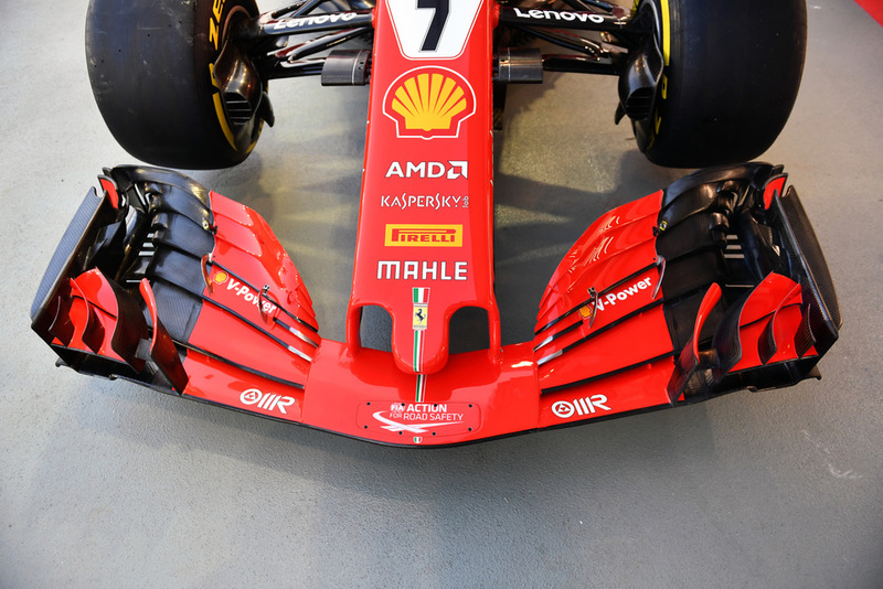 Ferrari SF71H nose and front wing detail